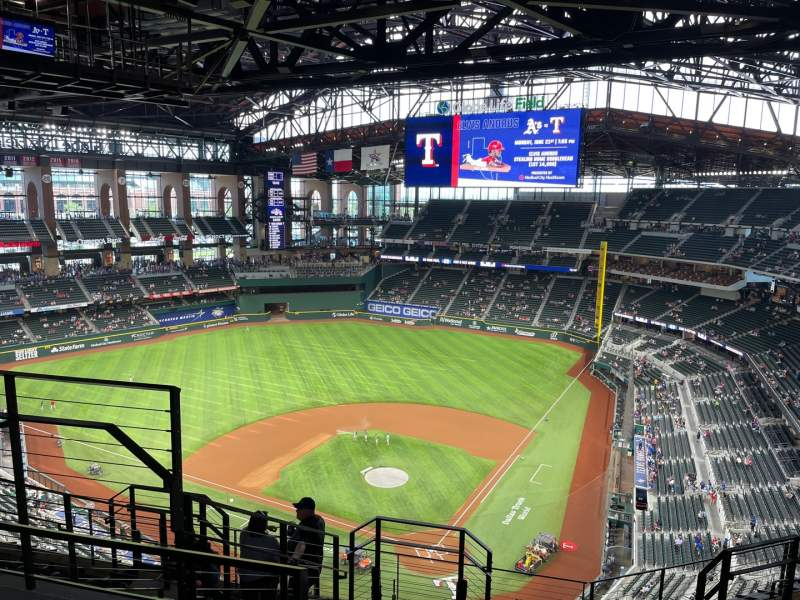 Seating view for Globe Life Field Section 312 Row 9 Seat 4