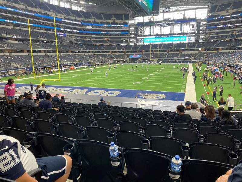 Seating view for AT&T Stadium Section 121 Row 20 Seat 13