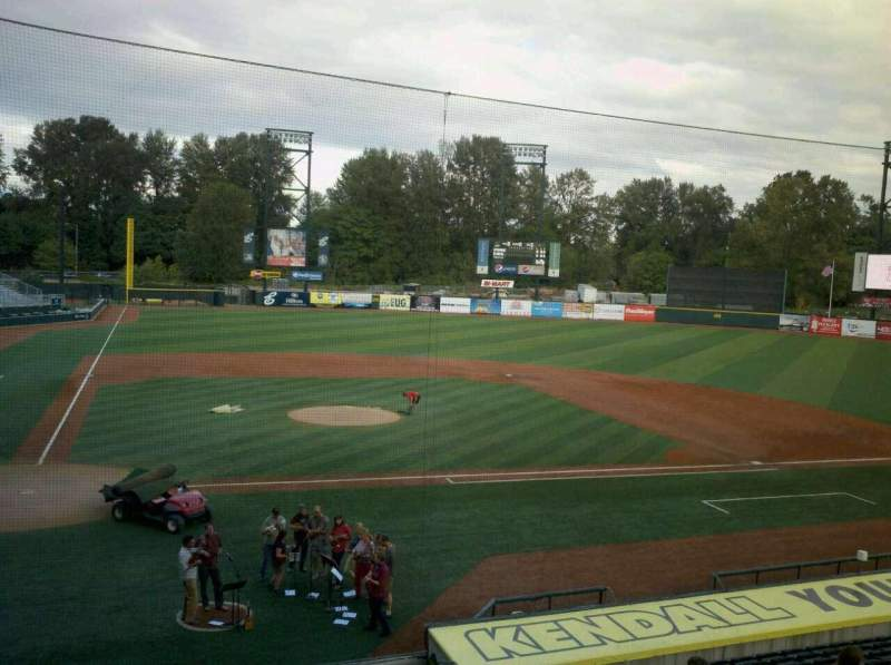Seating view for PK Park