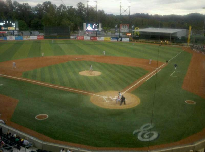 Seating view for PK Park Section Press Box