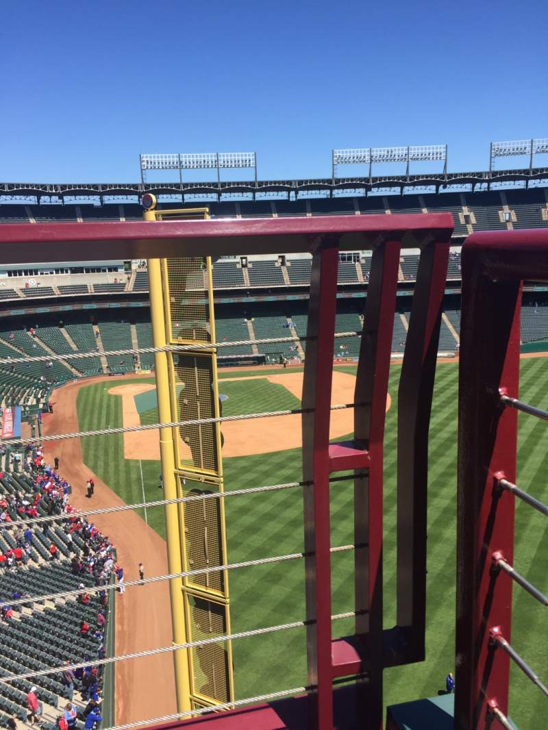 Seating view for Globe Life Park in Arlington Section 345 Row 1 Seat 9