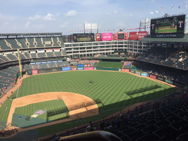 Seating view for Globe Life Park in Arlington Section 331 Row 23 Seat 18