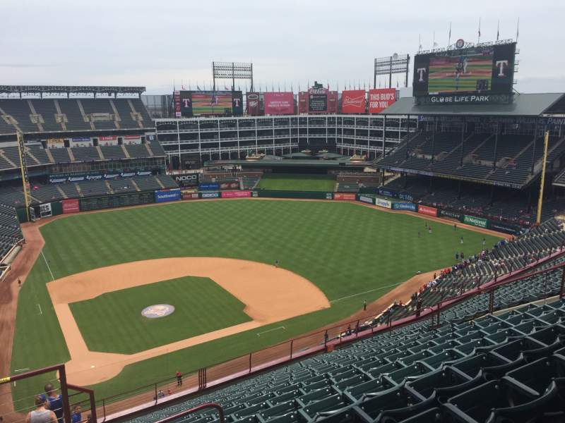 Seating view for Globe Life Park in Arlington Section 330 Row 17 Seat 1