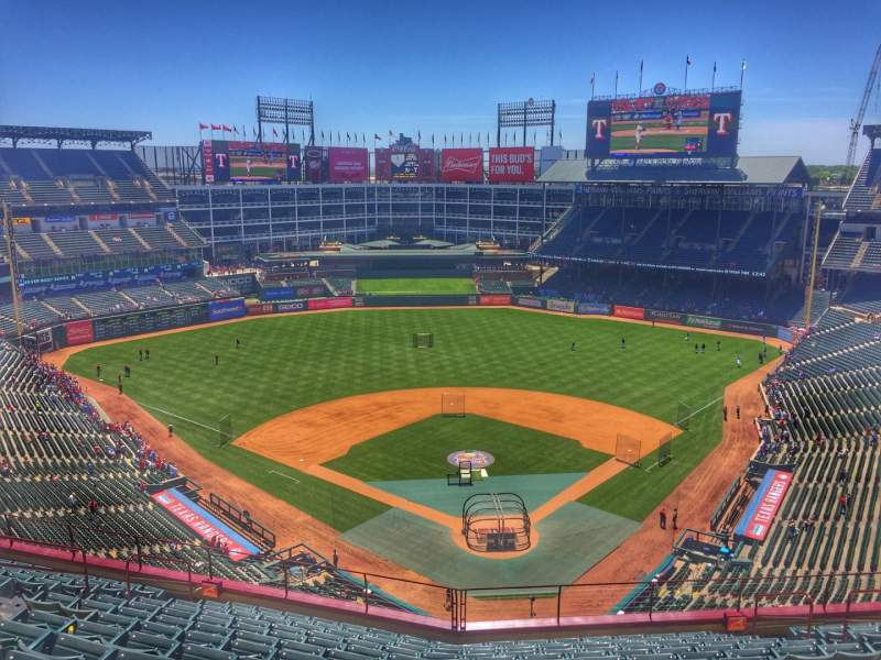 Seating view for Globe Life Park in Arlington Section 325 Row 14 Seat 13