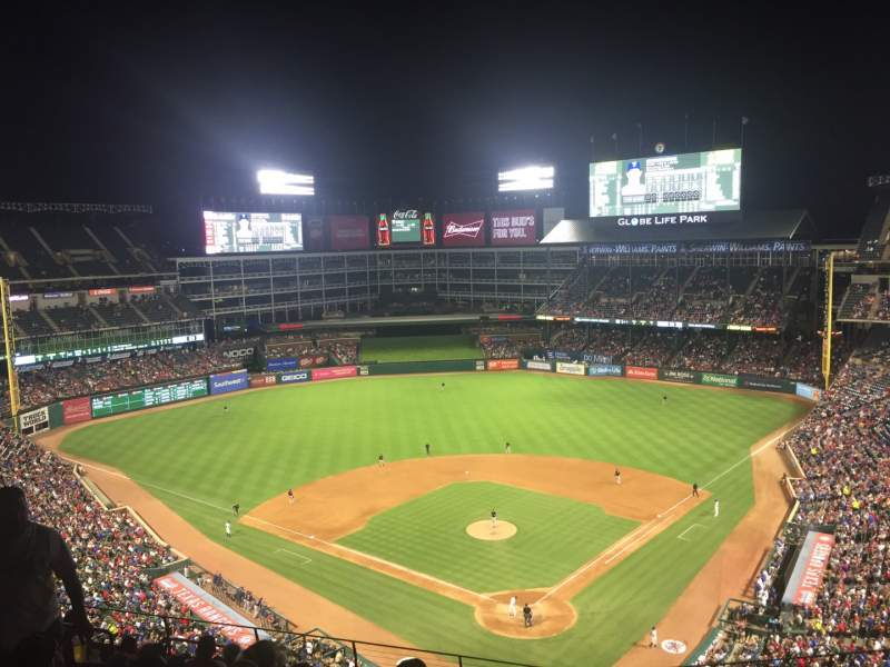 Seating view for Globe Life Park in Arlington Section 325 Row 12 Seat 9