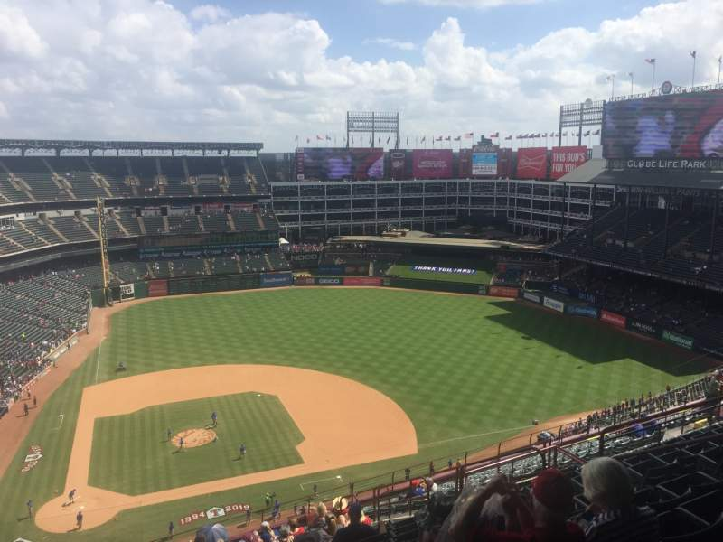 Seating view for Globe Life Park in Arlington Section 331 Row 21 Seat 9