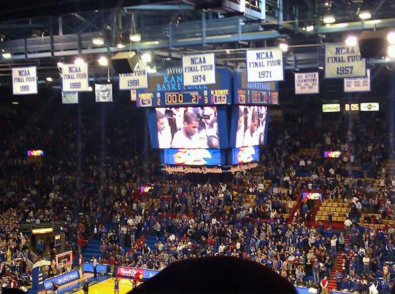 Seating view for Allen Fieldhouse Section 15 Row 27 Seat 10