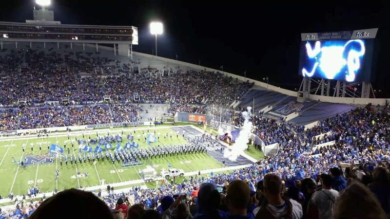 Seating view for Liberty Bowl Memorial Stadium Section 104 Row 90 Seat 5
