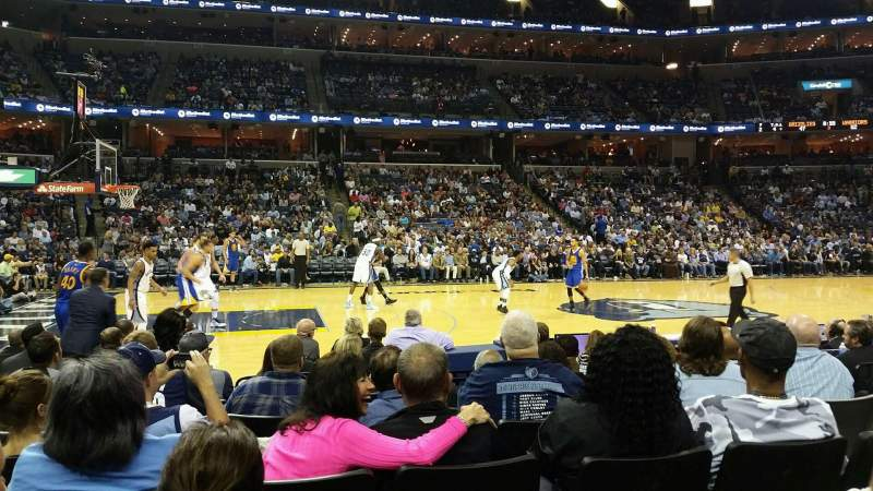 Seating view for FedEx Forum Section 104 Row H Seat 6