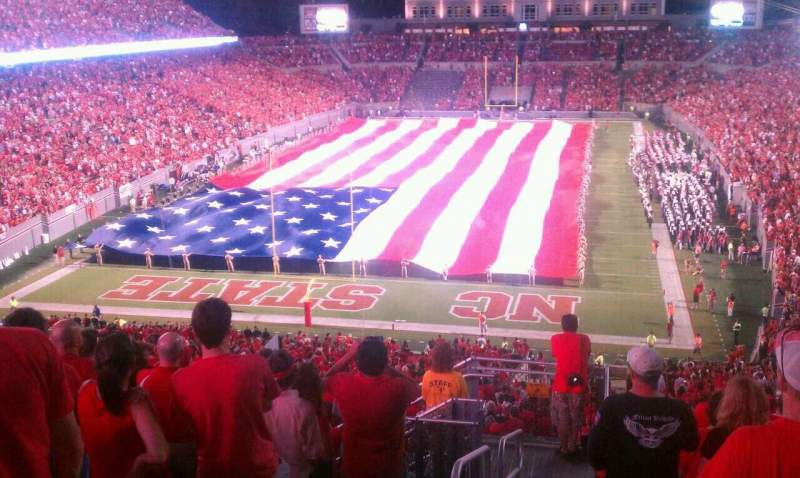 Seating view for Carter-Finley Stadium Section 320 Row L Seat 27