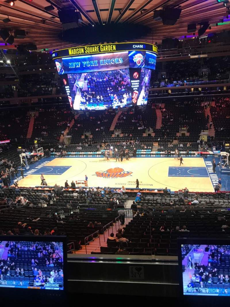 Seating view for Madison Square Garden Section 212 Row 2 Seat 7