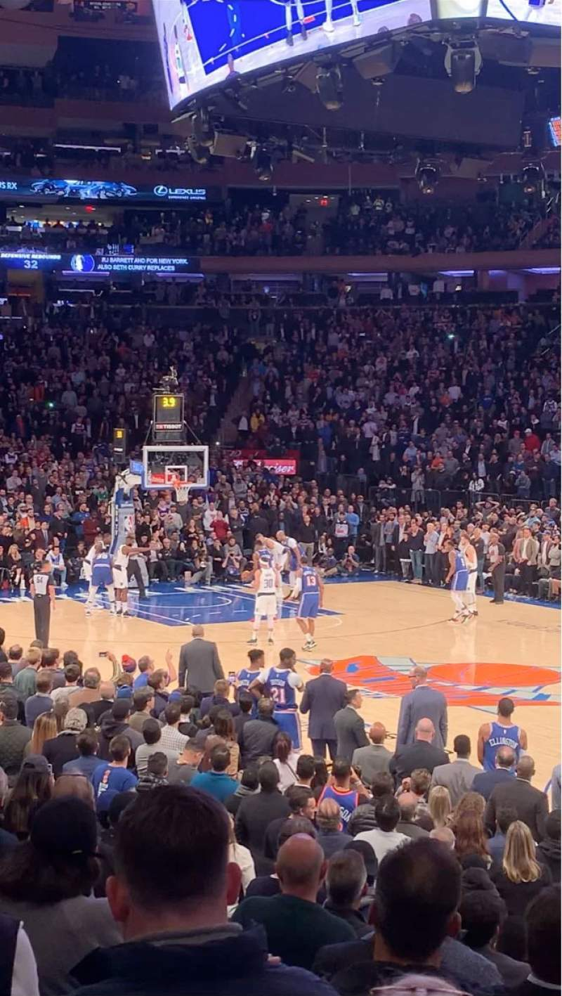 Seating view for Madison Square Garden Section 109 Row 8 Seat 14