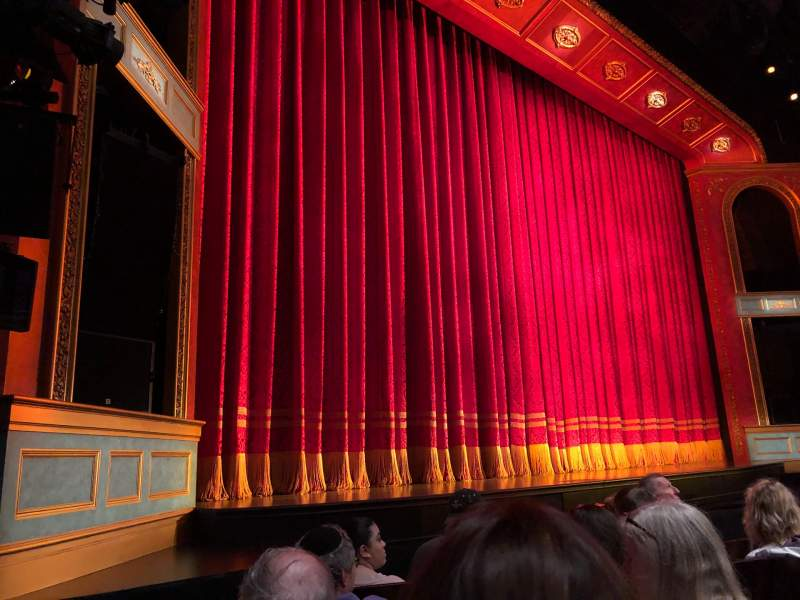 Seating view for Marquis Theatre Section Orchestra L Row E Seat 17