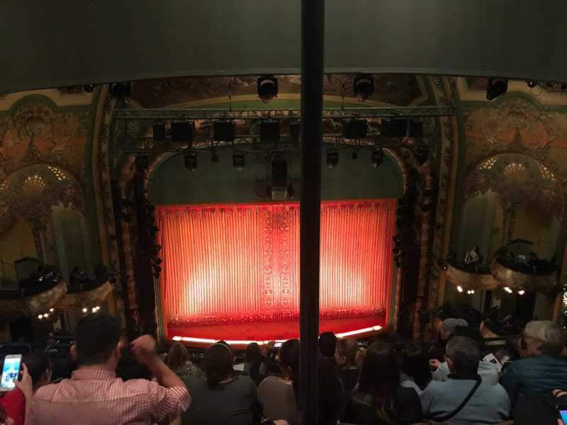 Seating view for New Amsterdam Theatre Section Balcony C Row G Seat 112
