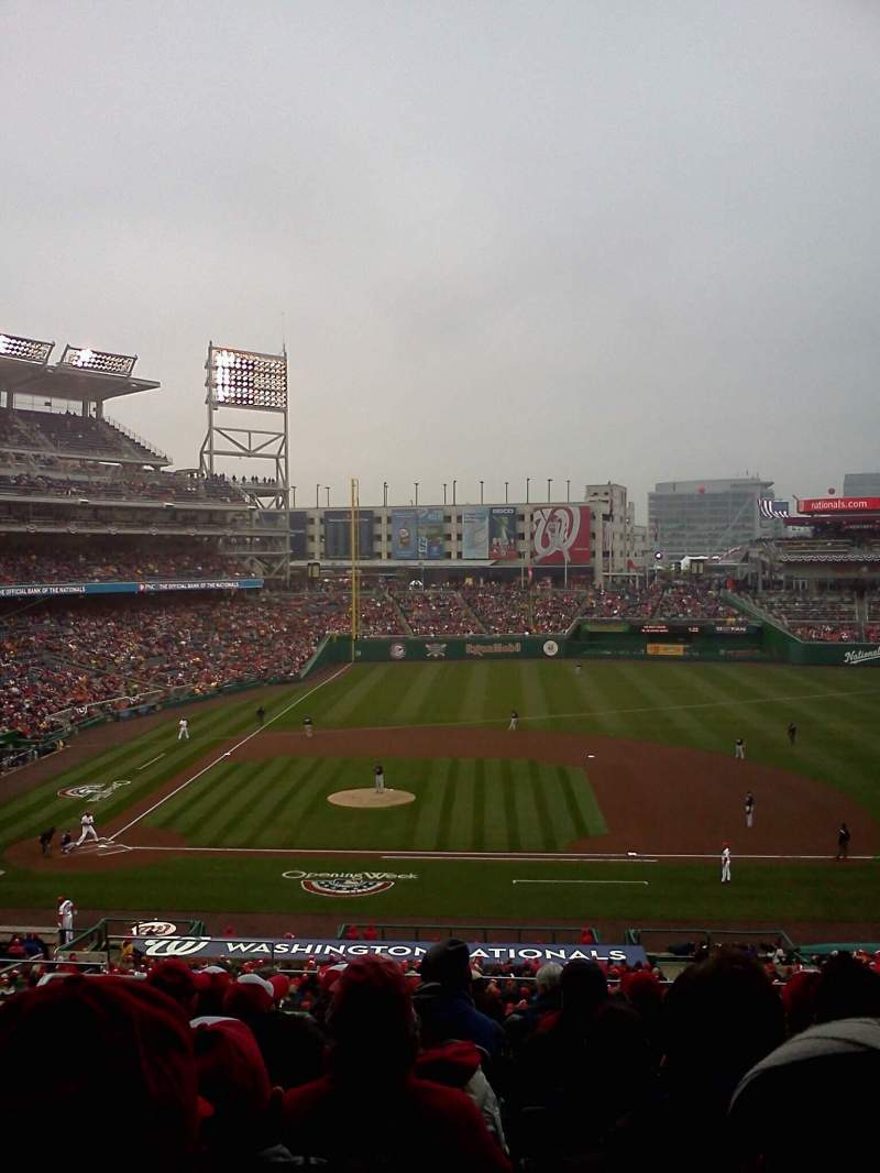 Seating view for Nationals Park Section 219 Row D Seat 11