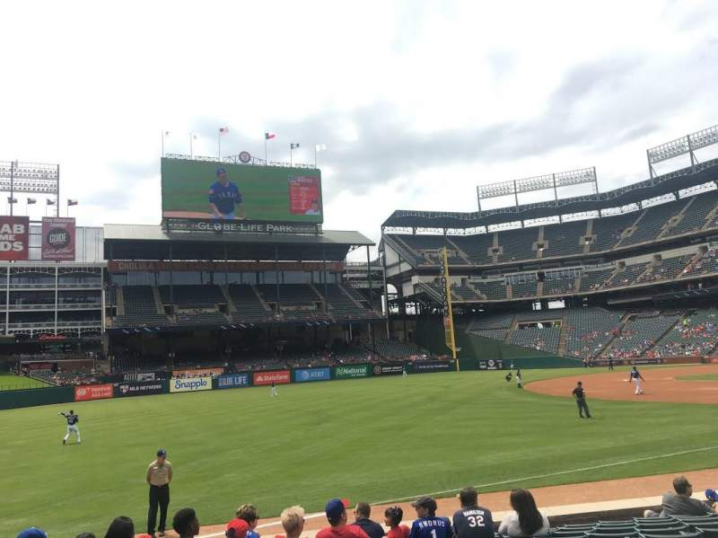Seating view for Globe Life Park in Arlington Section 13 Row 11 Seat 5