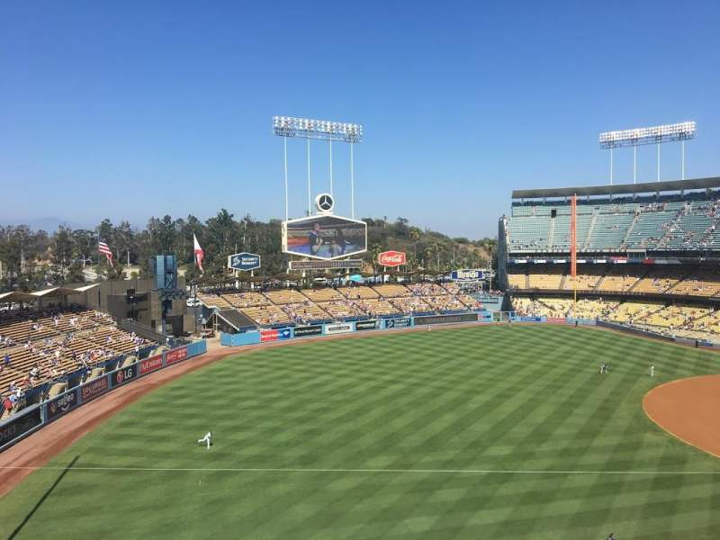 Seating view for Dodger Stadium Section 39RS Row B Seat 3