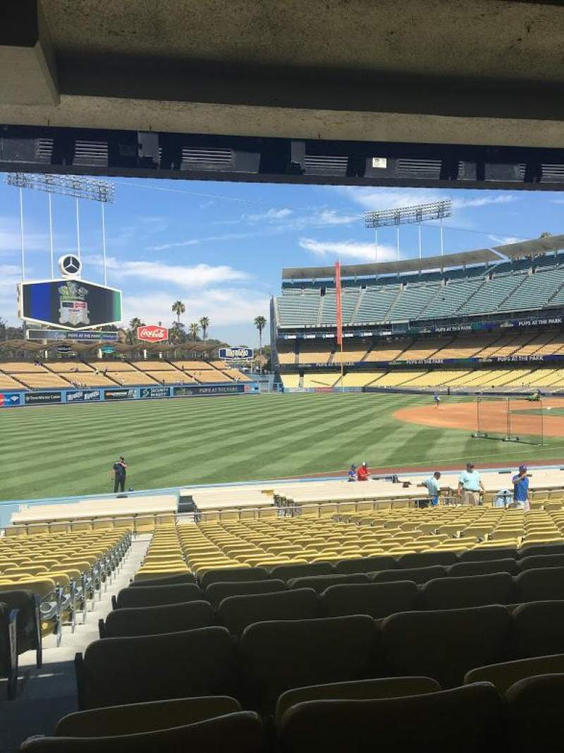 Seating view for Dodger Stadium Section 41FD Row W Seat 8