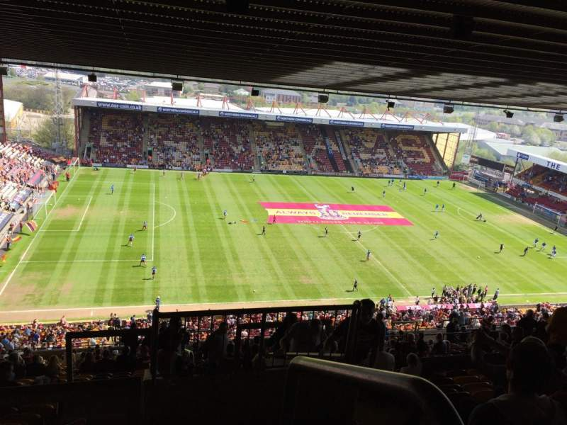 Valley Parade, Section M, Row EE, Seat 264
