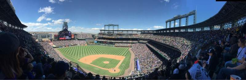 Seating view for Coors Field Section U333 Row 15 Seat 10
