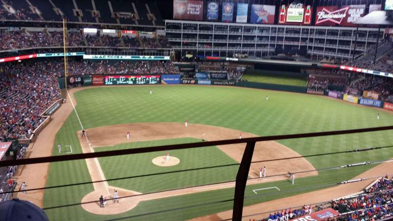 Seating view for Globe Life Park in Arlington Section 329 Row 2 Seat 17