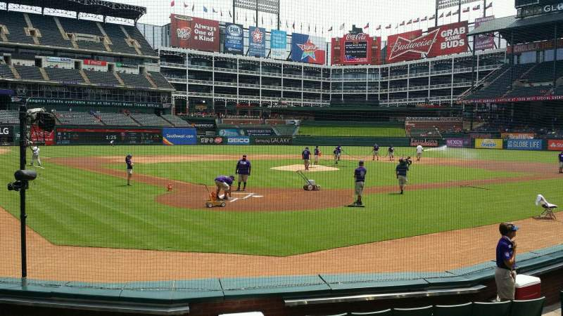 Seating view for Globe Life Park in Arlington Section 25 Row 5 Seat 20