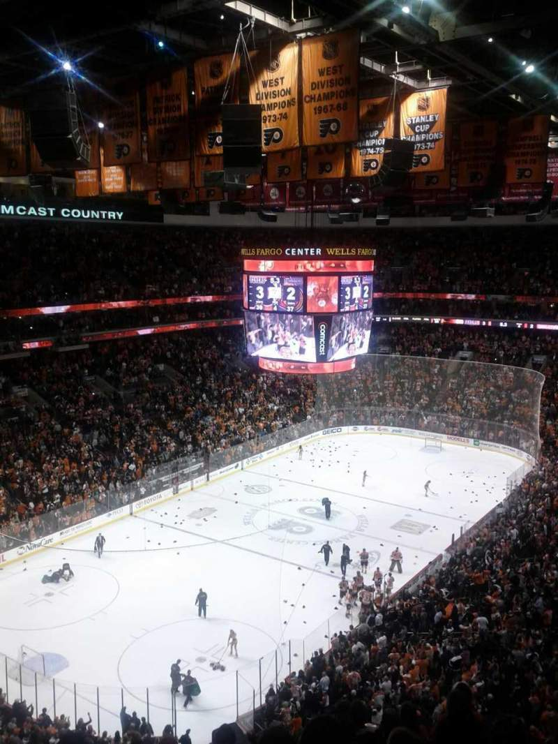 Seating view for Wells Fargo Center Section 221a Row 10 Seat 9