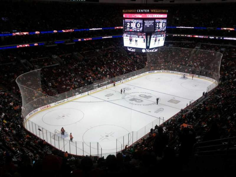 Seating view for Wells Fargo Center Section 221a Row 9 Seat 11