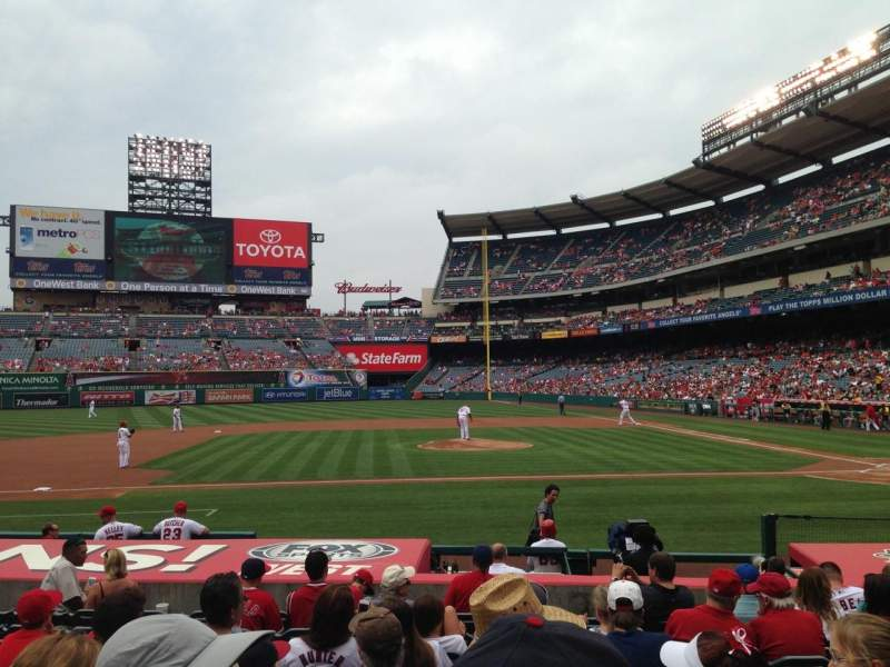 Seating view for Angel Stadium Section F112 Seat 11