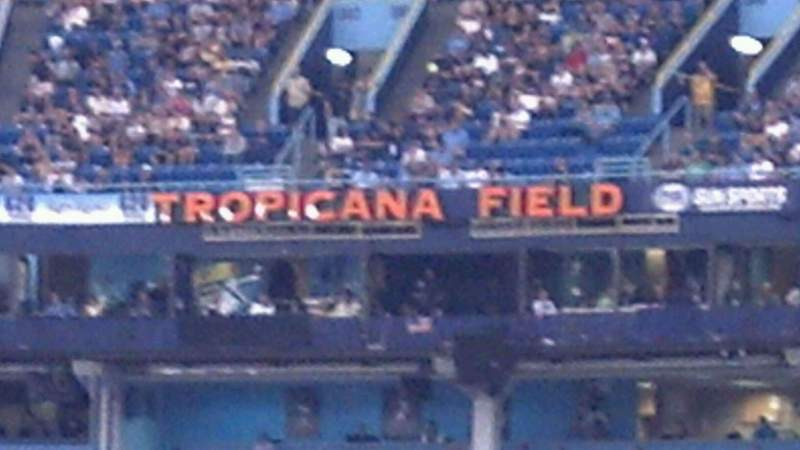 Seating view for Tropicana Field Section 143 Row Y Seat 1