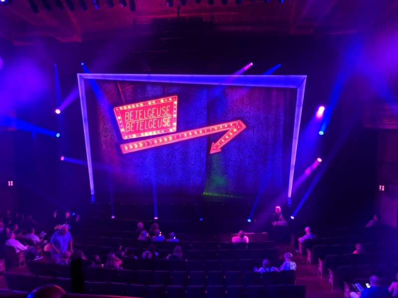 Seating view for Winter Garden Theatre Section Mezzanine RC Row A Seat 120