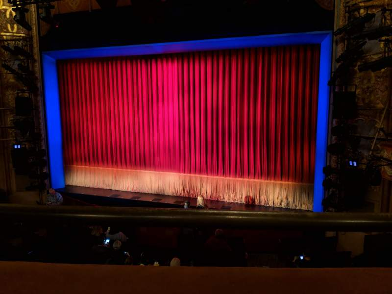 Seating view for Longacre Theatre Section Mezzanine R Row A Seat 1