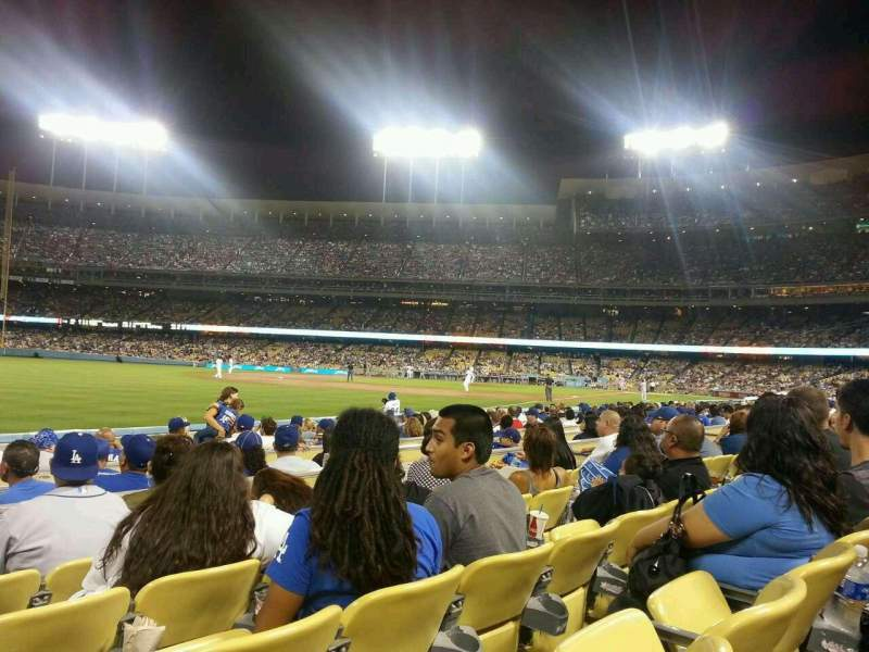 Seating view for Dodger Stadium Section 45FD Row D