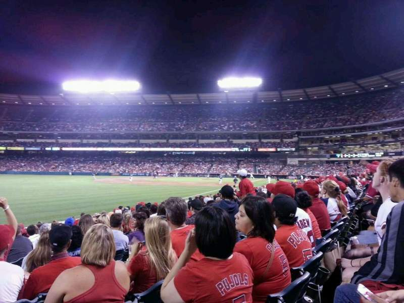 Seating view for Angel Stadium Section F104 Row m Seat 11