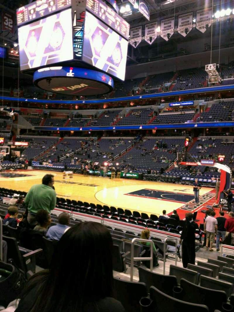 Seating view for Verizon Center Section 113 Row L Seat 3