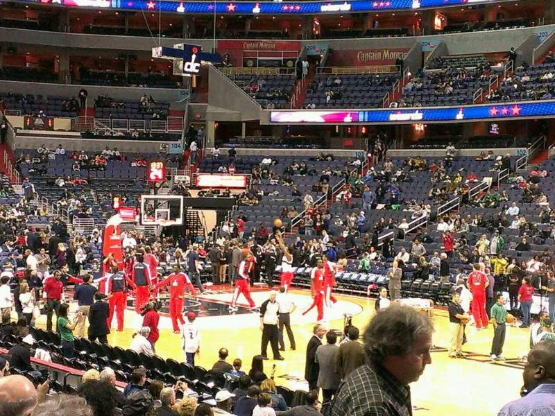 Seating view for Capital One Arena Section 113 Row L Seat 3