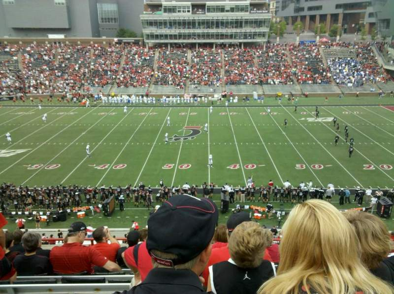 Seating view for Nippert Stadium
