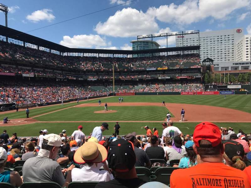 Seating view for Oriole Park at Camden Yards Section 22 Row 19 Seat 3