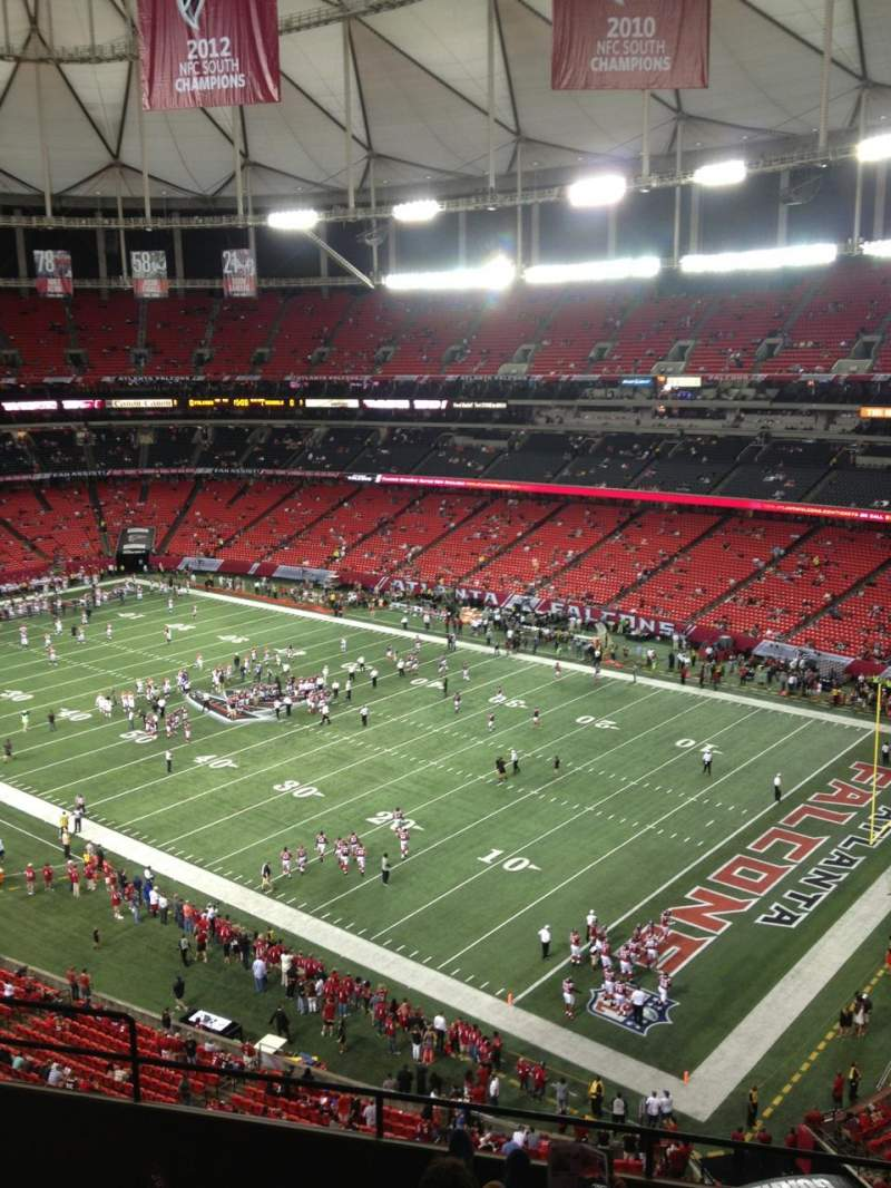 Seating view for Georgia dome Section 341 Row 6 Seat 3