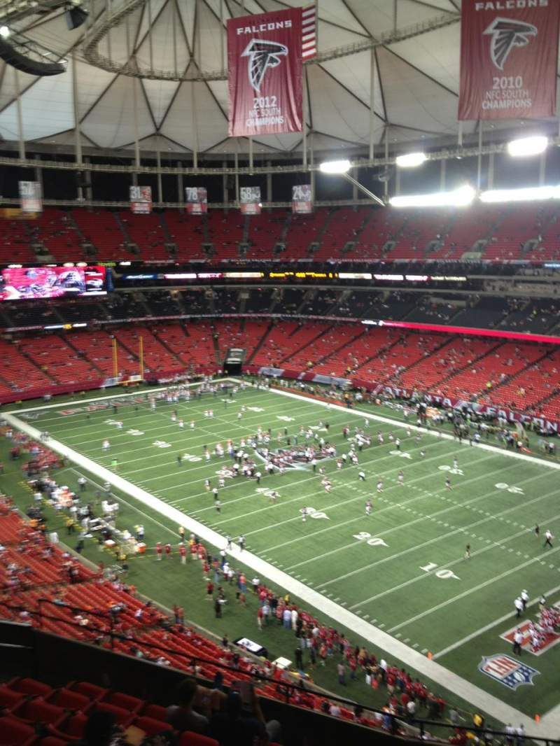 Seating view for Georgia dome Section 341 Row 9 Seat 9