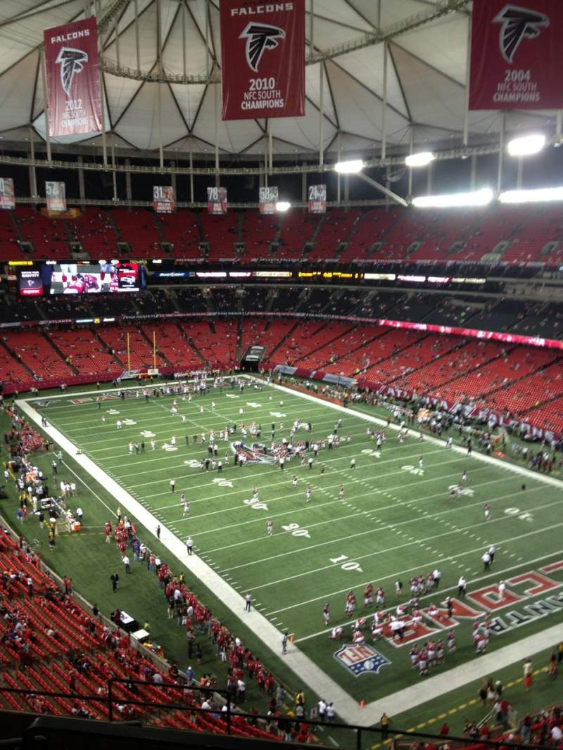 Seating view for Georgia Dome Section 339 Row 8 Seat 1