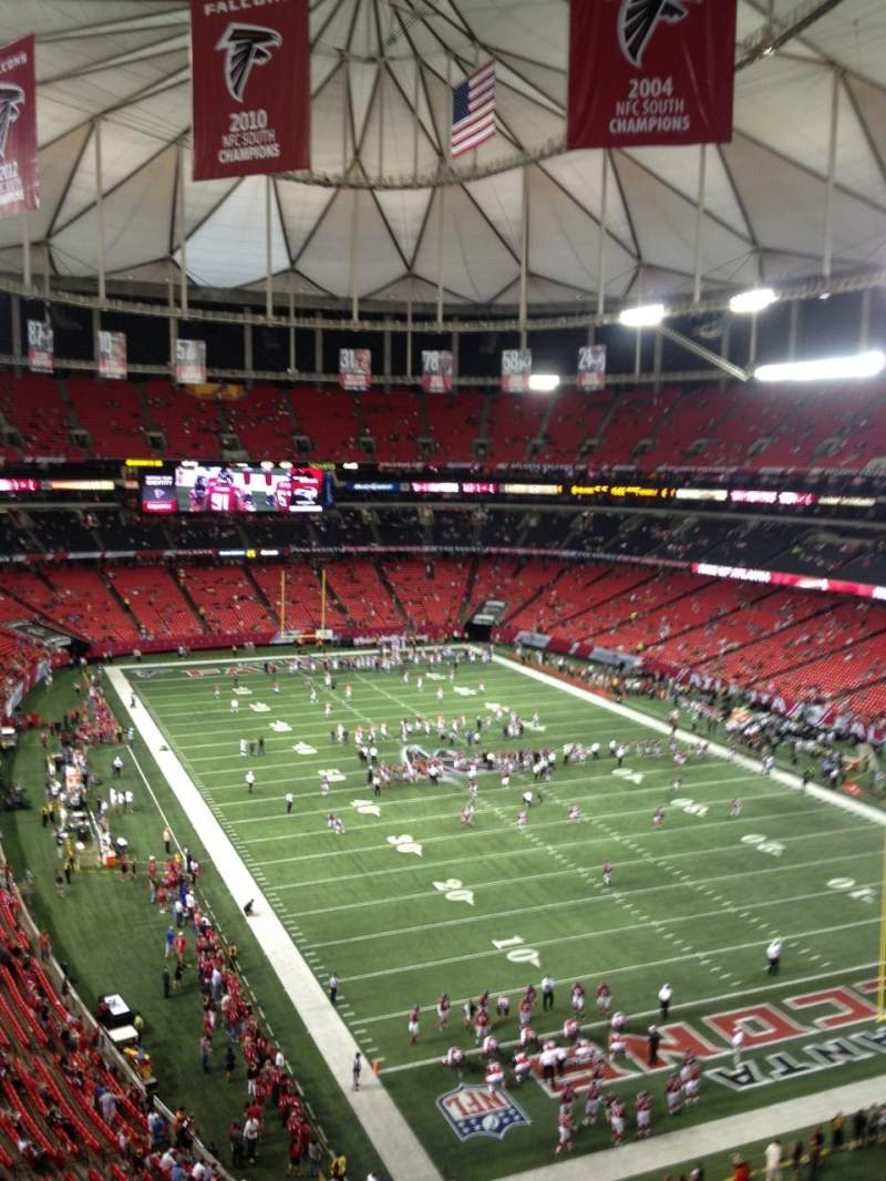 Seating view for Georgia Dome Section 338 Row 4 Seat 4