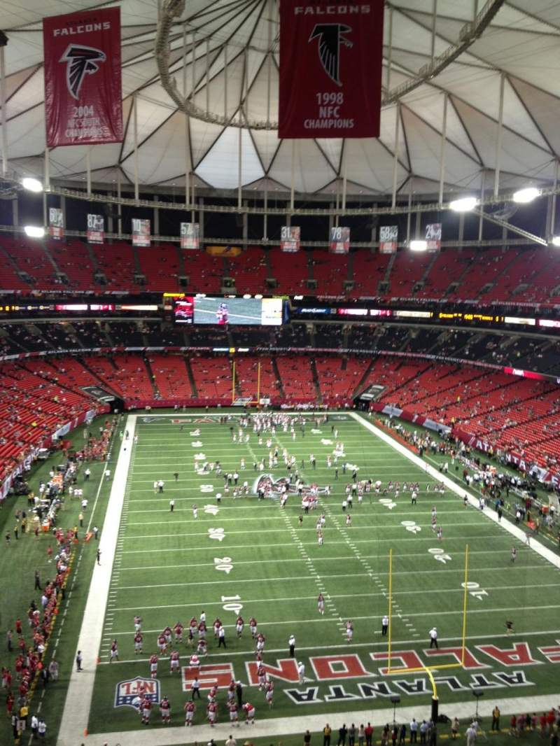 Seating view for Georgia Dome Section 338 Row 8 Seat 8