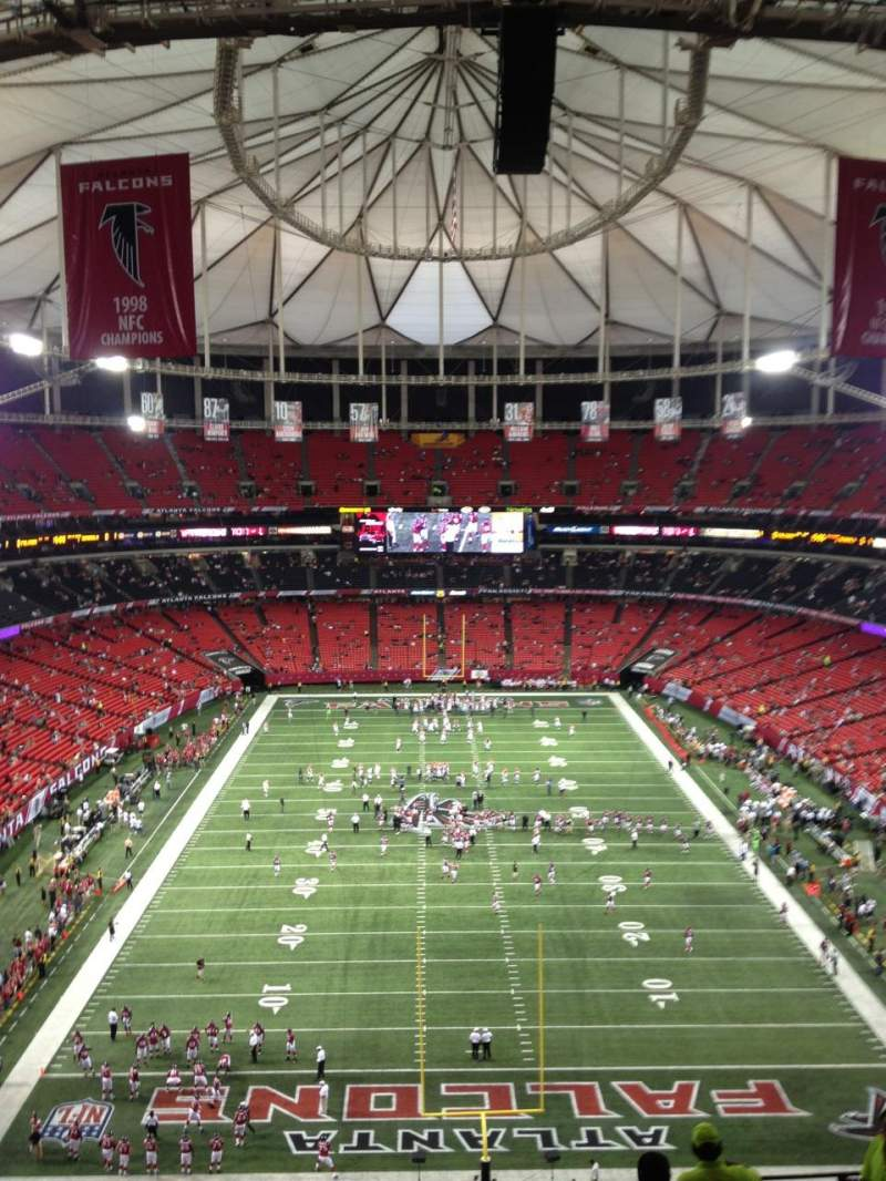 Seating view for Georgia Dome Section 335 Row 13 Seat 20