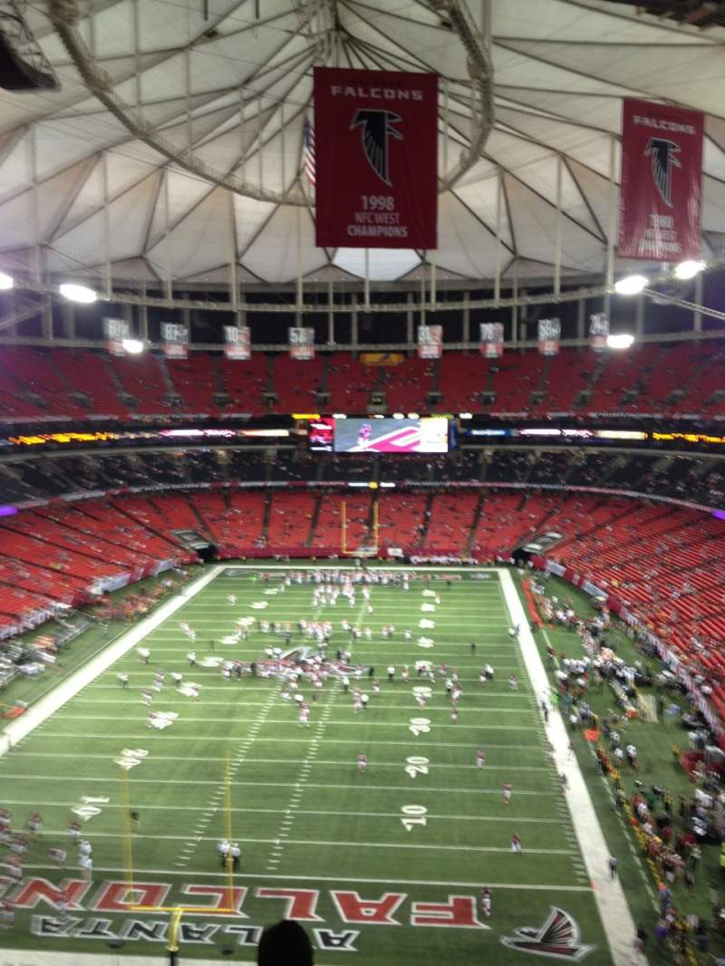 Seating view for Georgia Dome Section 333 Row 10 Seat 3