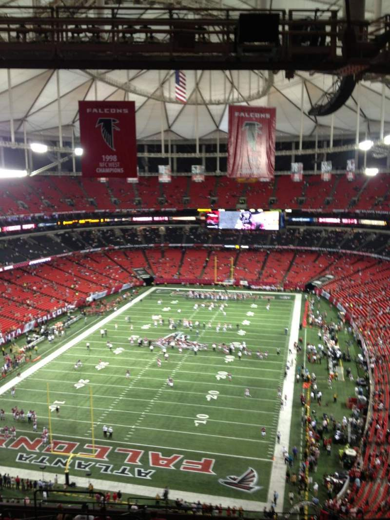 Seating view for Georgia Dome Section 332 Row 18 Seat 5