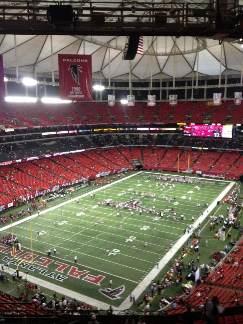 Seating view for Georgia Dome Section 330 Row 17 Seat 5