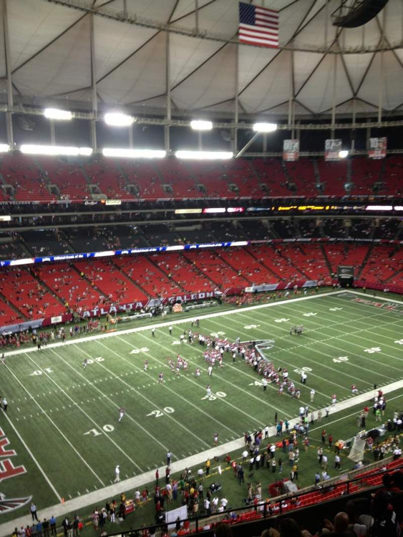 Seating view for Georgia Dome Section 328 Row 15 Seat 21