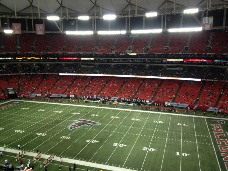 Seating view for Georgia Dome Section 321 Row 8 Seat 18