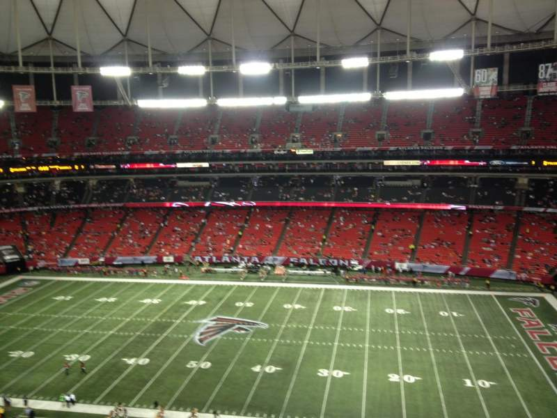 Seating view for Georgia Dome Section 318 Row 4 Seat 18